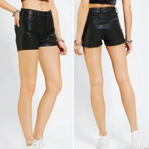 BDG -High Rise Erin Faux Leather Shorts